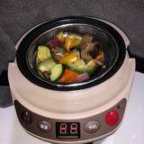 同時調理冷凍焼き野菜とミートボール