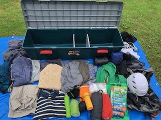 衣類、登山用品収納BOX展開