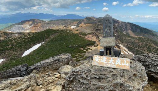安達太良山と無料あだたら高原野営場
