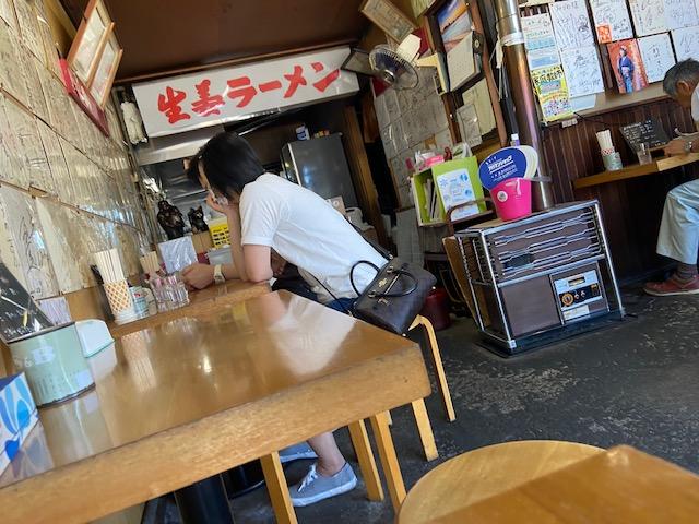 図書館近くの「生姜ラーメンみづの」で昼食