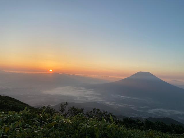 無事に羊蹄山と日の出が見れました