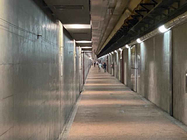 地下3階なので冷房が入っているみたいに涼しくて散歩やジョギングの方がたくさんいます