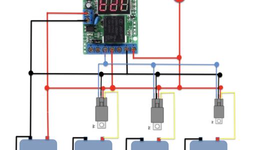 リレーを使用した循環電流対策(入力側)
