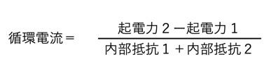 循環電流の計算式