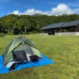 八甲田山登山口のキャンプ場、今回は珍しくテントを張ってみました