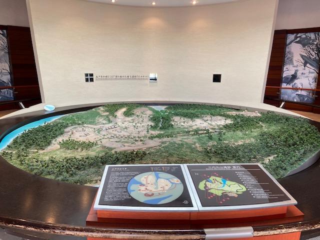 遺跡の入り口にある模型、大規模な遺跡です