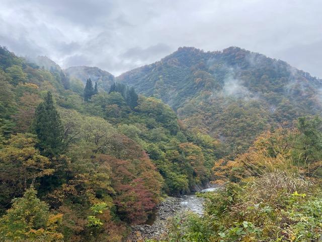 渓谷を見ながら歩きます