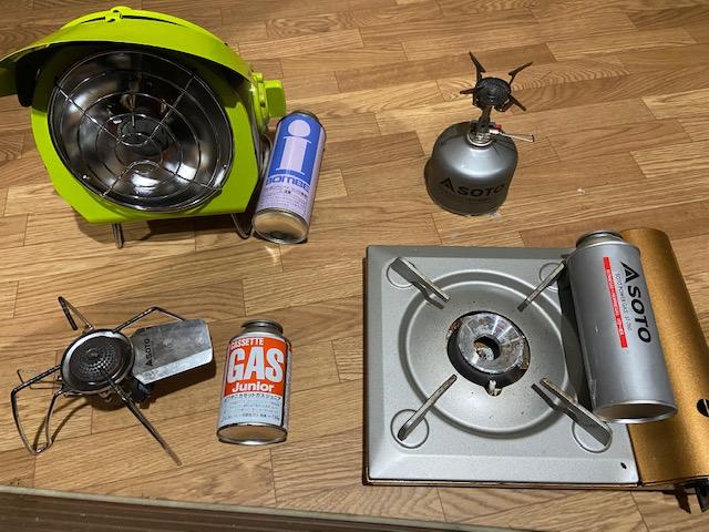 ガス器具とカセットガスの組み合わせ