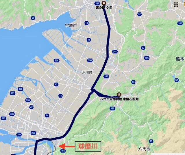 熊本水害の時の位置