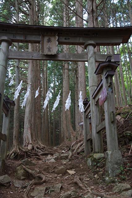 宮本武蔵が立っていそうな三峰神社奥の院の鳥居