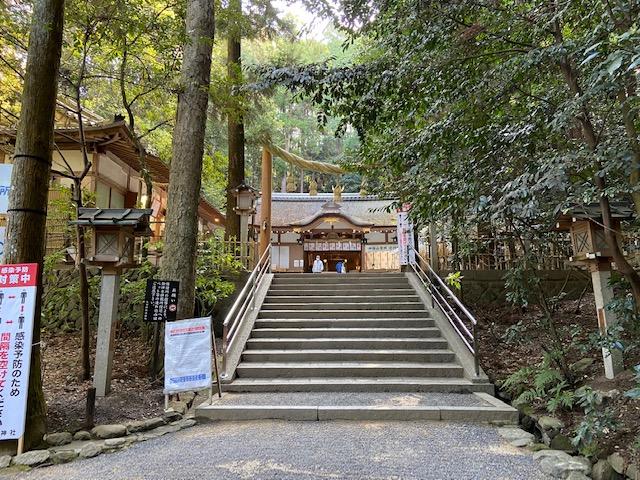 狭井神社、大神神社に着いたかと思ったら違いました三輪山への登拝口になってるようです