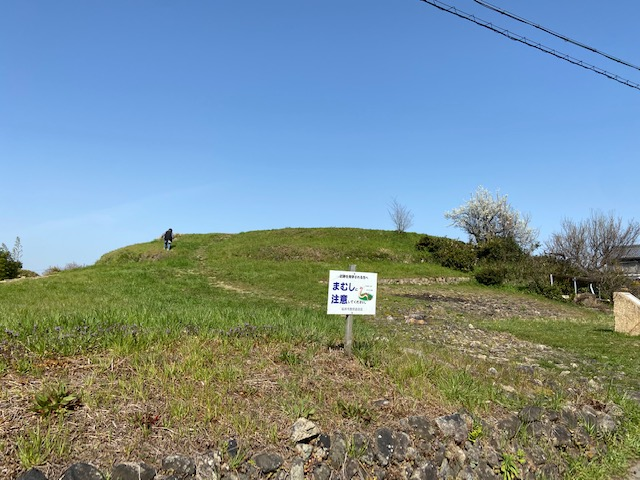 2時間でホケノ山古墳に戻りました、ここからはダンベルとお守りのリュックを置いて歩きます