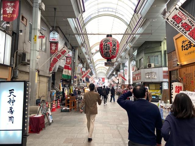 大阪天満宮商店街は賑わってましたがお弁当販売がずらり並んでコロナの影響が・・