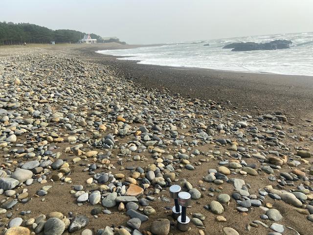 今日の朝トレは大洗海岸です
