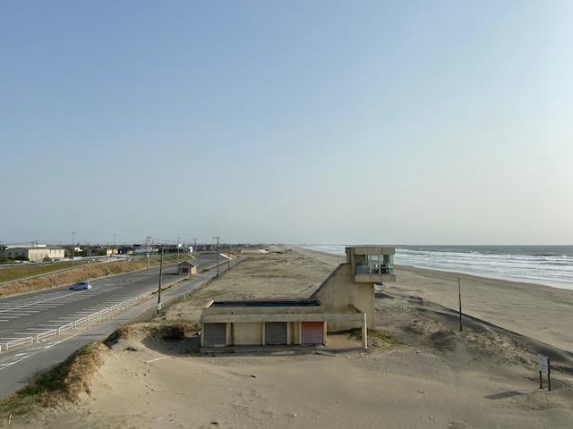 ずーっと砂浜が続く九十九里浜海水浴場