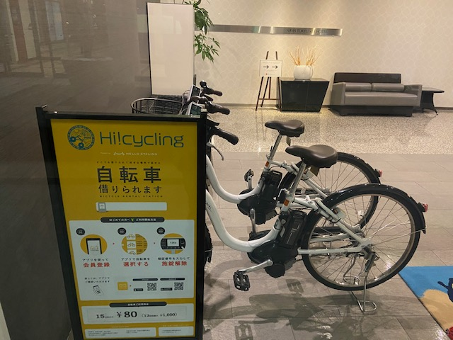ホテルの貸自転車で那覇市内を走ろうかとも思ったんですけど
