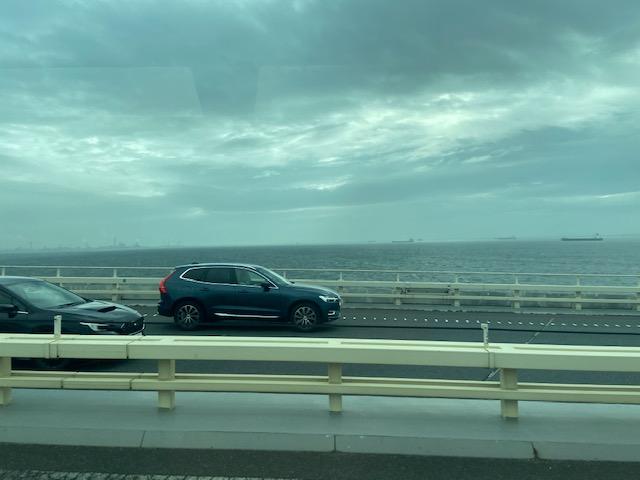 羽田空港からアクアラインを通って袖ヶ浦のバスターミナルへ