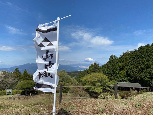 西の丸跡からも富士山が見えます