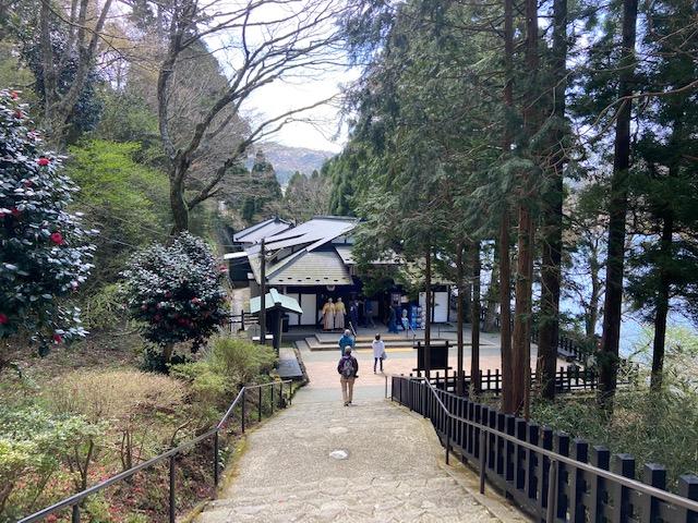 恩賜公園から道が箱根の関所資料館につながってます
