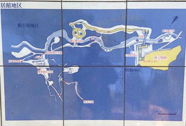 八王子城の配置図、とにかく広いです