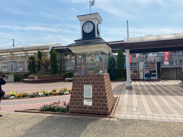 深谷駅には渋沢栄一のからくり時計