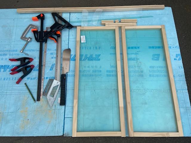 切りなおして木工作業は完成です