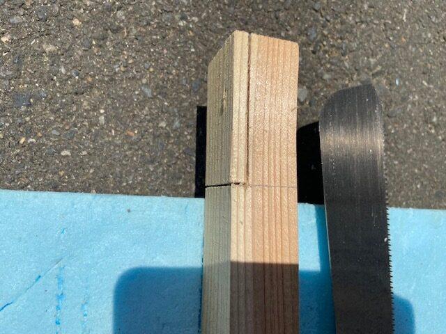 木材と段差になる部分をカット