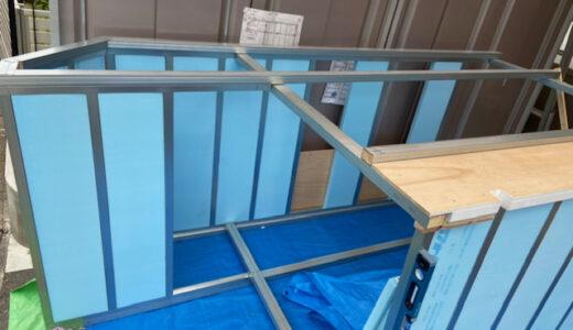 軽トラキャンピングカー製作8(床と屋根の製作)