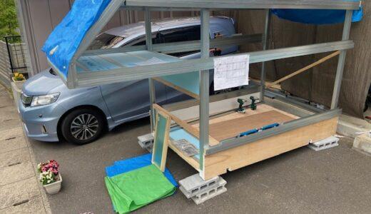 軽トラキャンピングカー製作10 歪みの修正と壁の製作