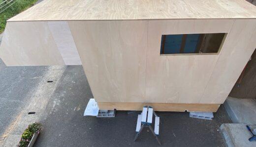 軽トラキャンピングカー製作18(屋根の製作)