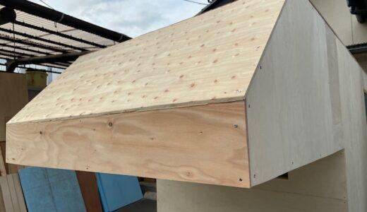 軽トラキャンピングカー製作19(壁と屋根張りの完了)