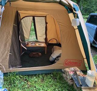 キャンプブームが来てますね、車中泊中心で出発です